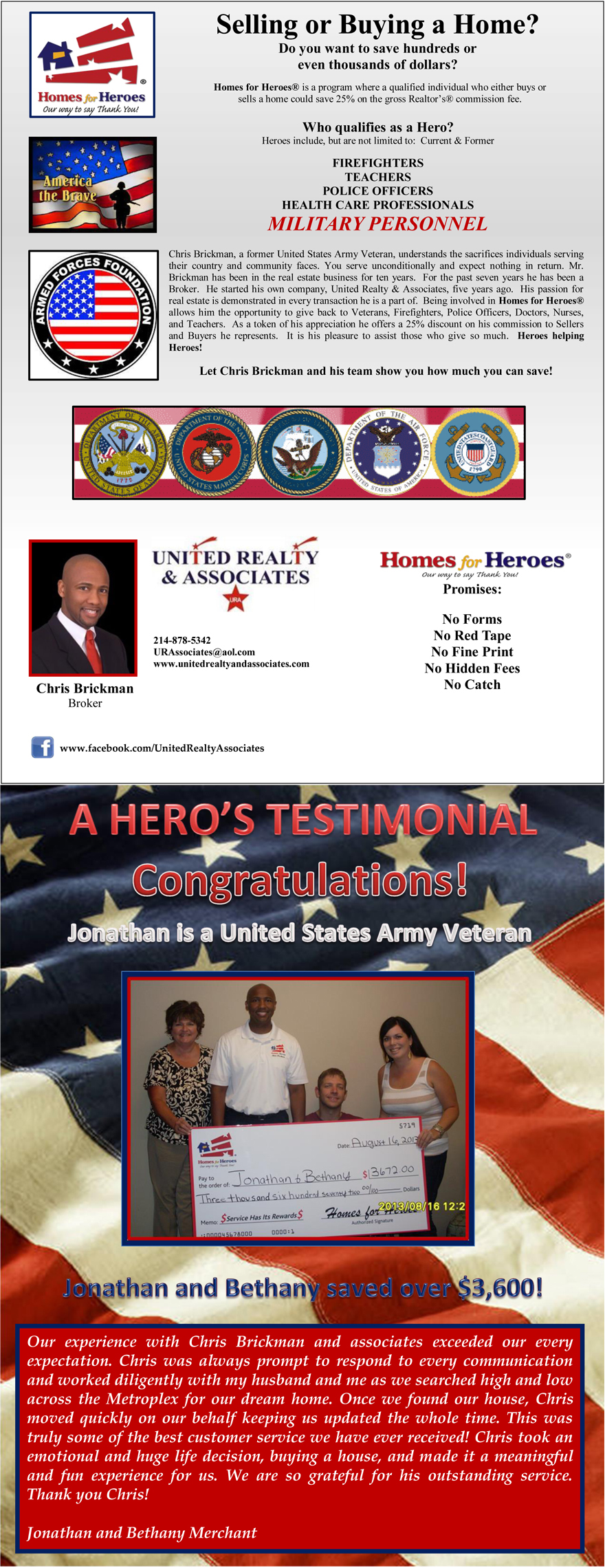 Homes for Heroes Military Personnel